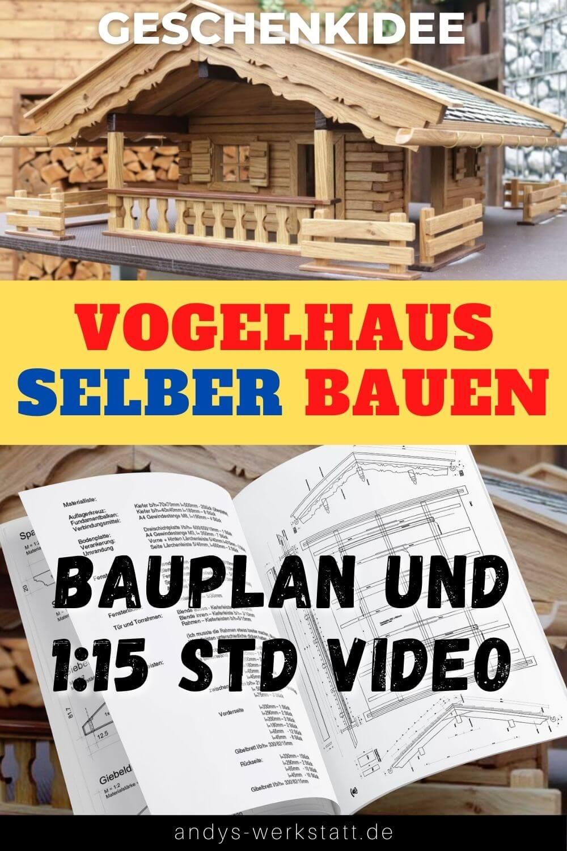 Vogelhaus Bauplan